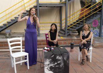 L'attrice Lydia Giordano, Lina Scalisi vice presidente del Teatro Stabile, Laura Sicignano direttore del Teatro Stabile di Catania